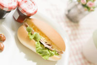サンドイッチとジャム