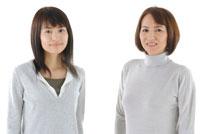 母と娘のポートレート 30703000020| 写真素材・ストックフォト・画像・イラスト素材|アマナイメージズ
