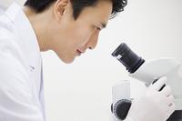 顕微鏡を覗く男性研究員の横顔 33000002104| 写真素材・ストックフォト・画像・イラスト素材|アマナイメージズ