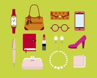 女性の持ち物 60000000032| 写真素材・ストックフォト・画像・イラスト素材|アマナイメージズ