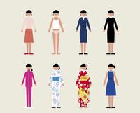 成人女性(いろいろな服装)