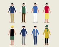 成人男性(季節の服装)