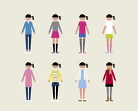 ティーン女子(季節の服装)
