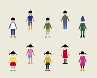 子ども(季節の服装)