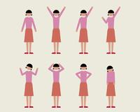 成人女性(いろいろな感情) 60000000091| 写真素材・ストックフォト・画像・イラスト素材|アマナイメージズ