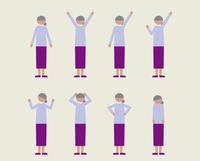 シニア女性(いろいろな感情) 60000000093| 写真素材・ストックフォト・画像・イラスト素材|アマナイメージズ