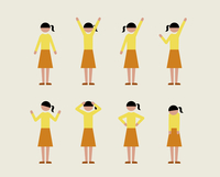 ティーン女子(いろいろな感情) 60000000099| 写真素材・ストックフォト・画像・イラスト素材|アマナイメージズ