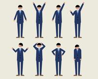 ビジネス男性(いろいろな感情) 60000000108| 写真素材・ストックフォト・画像・イラスト素材|アマナイメージズ