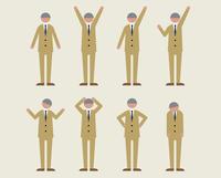 ビジネス男性・シニア(いろいろな感情) 60000000110| 写真素材・ストックフォト・画像・イラスト素材|アマナイメージズ