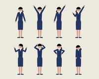 ビジネス女性(いろいろな感情) 60000000112| 写真素材・ストックフォト・画像・イラスト素材|アマナイメージズ