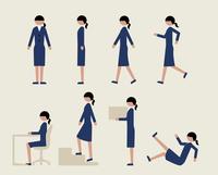 ビジネス女性(いろいろな行動)