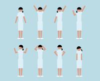 看護師女性(いろいろな感情)
