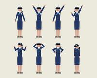 警官女性(いろいろな感情)