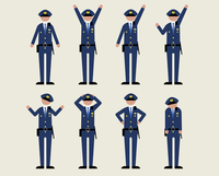 警官男性(いろいろな感情)