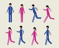 ジャージの男女(歩く・走る) 60000000130| 写真素材・ストックフォト・画像・イラスト素材|アマナイメージズ