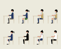 学生(イスに座る)
