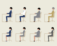 ビジネスマン(イスに座る)