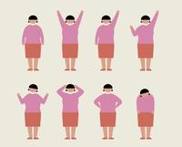 肥満の女性(いろいろな感情)