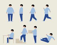 肥満の男性(いろいろな行動) 60000000212| 写真素材・ストックフォト・画像・イラスト素材|アマナイメージズ