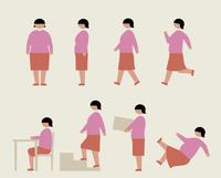 肥満の女性(いろいろな行動) 60000000213| 写真素材・ストックフォト・画像・イラスト素材|アマナイメージズ