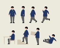 肥満の男子学生(いろいろな行動) 60000000216| 写真素材・ストックフォト・画像・イラスト素材|アマナイメージズ