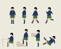 肥満の女子学生(いろいろな行動) 60000000217| 写真素材・ストックフォト・画像・イラスト素材|アマナイメージズ