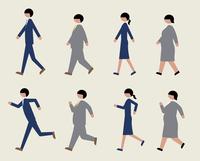 ビジネスマン(歩く・走る)