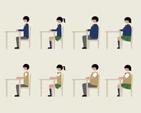 ブレザー服の学生(イスに座る) 60000000223| 写真素材・ストックフォト・画像・イラスト素材|アマナイメージズ