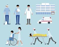 救急車・病院・けが人・医者 60000000229| 写真素材・ストックフォト・画像・イラスト素材|アマナイメージズ
