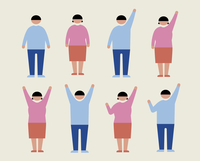 肥満の男女(感情1) 60000000233| 写真素材・ストックフォト・画像・イラスト素材|アマナイメージズ