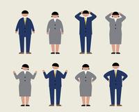肥満のビジネスマン(感情2)