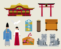 神社セット 60000000248| 写真素材・ストックフォト・画像・イラスト素材|アマナイメージズ