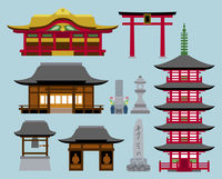 神社・寺の建物 60000000251| 写真素材・ストックフォト・画像・イラスト素材|アマナイメージズ