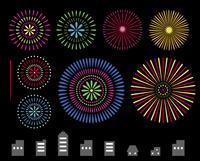 花火とビル 60000000255| 写真素材・ストックフォト・画像・イラスト素材|アマナイメージズ