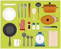料理道具セット 60000000257| 写真素材・ストックフォト・画像・イラスト素材|アマナイメージズ