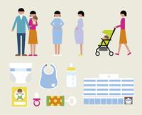 妊娠出産セット 60000000267| 写真素材・ストックフォト・画像・イラスト素材|アマナイメージズ