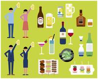 飲み会セット 60000000274  写真素材・ストックフォト・画像・イラスト素材 アマナイメージズ