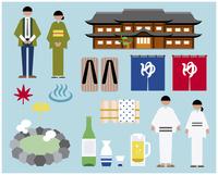 温泉宿セット 60000000275| 写真素材・ストックフォト・画像・イラスト素材|アマナイメージズ