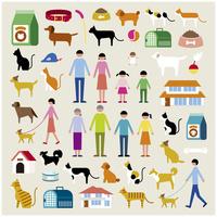 家族とペットセット 60000000303| 写真素材・ストックフォト・画像・イラスト素材|アマナイメージズ