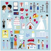 プロポーズ結婚出産セット 60000000320| 写真素材・ストックフォト・画像・イラスト素材|アマナイメージズ