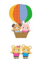 気球に乗った動物たち