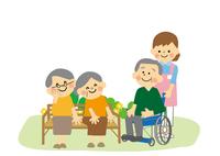 高齢者と介護士