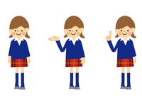 女子学生のセット 60002000085| 写真素材・ストックフォト・画像・イラスト素材|アマナイメージズ