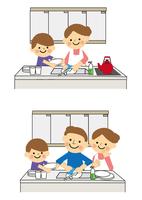皿洗いのお手伝い