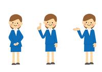 女性会社員全身のセット