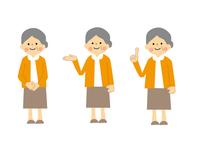 高齢女性全身のセット