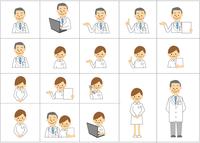 医者・看護師のアイコン 60002000186  写真素材・ストックフォト・画像・イラスト素材 アマナイメージズ
