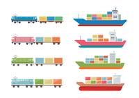 貨物船と貨物列車 60003000018| 写真素材・ストックフォト・画像・イラスト素材|アマナイメージズ