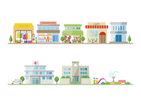 商店街と学校