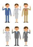説明するビジネス集団男性女性